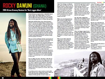 rocky dawuni interview reggae agenda magazine grammy nominee