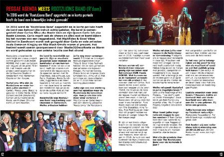 reggae agenda magazine rootz lions band