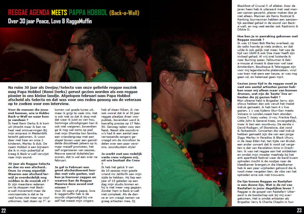papa hobbol back a wall reggaezine interview