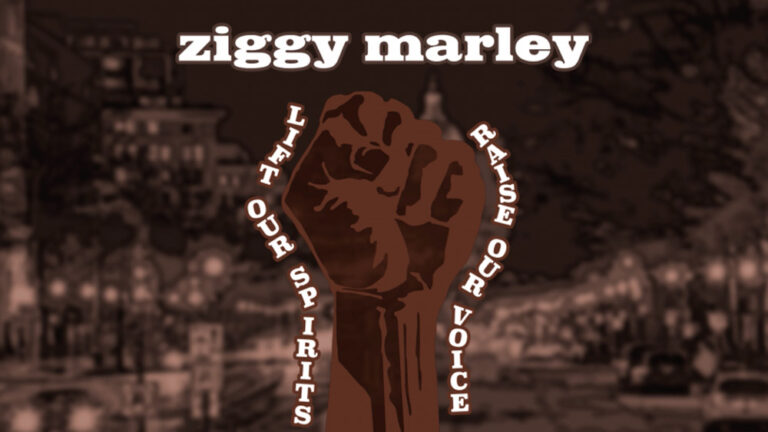 Ziggy Marley lift out spirits raise our voice