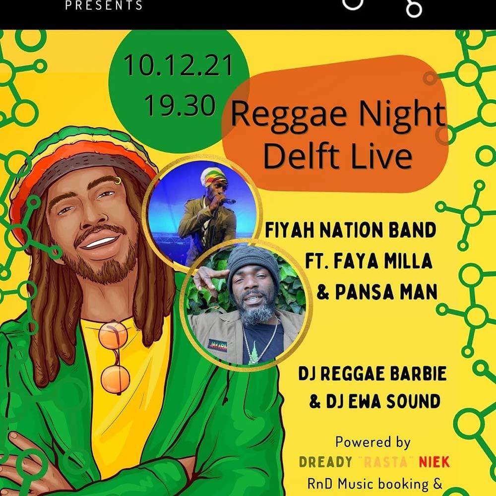Reggae Night Delft Fiyah Nation Band